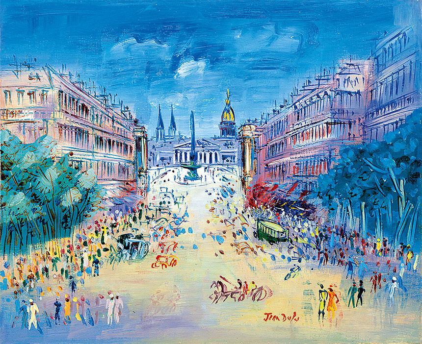 Jean Dufy - Rue Royale, vers 1950