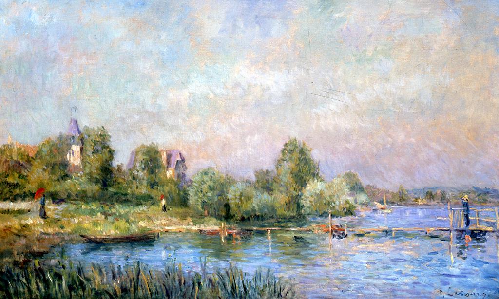 Bord de Seine à Muids, 1890