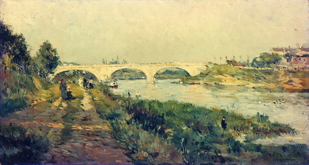 Bord de Seine, vers 1885-1890