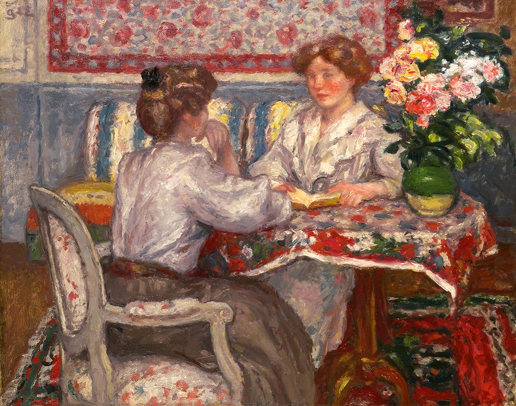 Deux jeunes filles assises, circa 1908