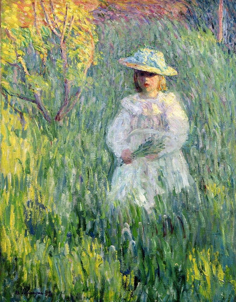Fillette dans une prairie, 1898