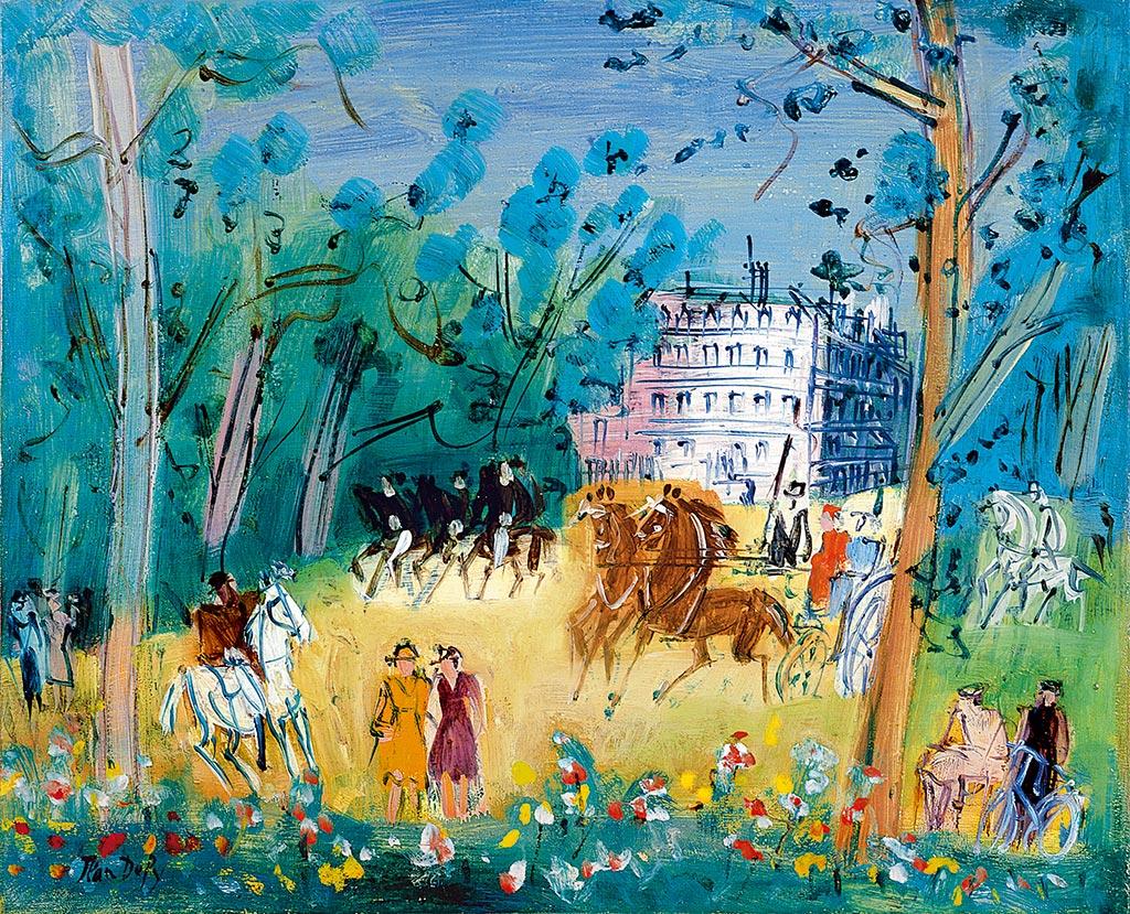 Bois de Boulogne, vers 1947-1949