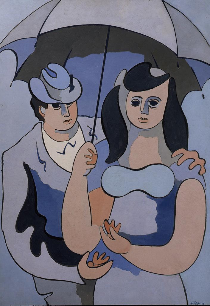 Sous un parapluie gris, 1946