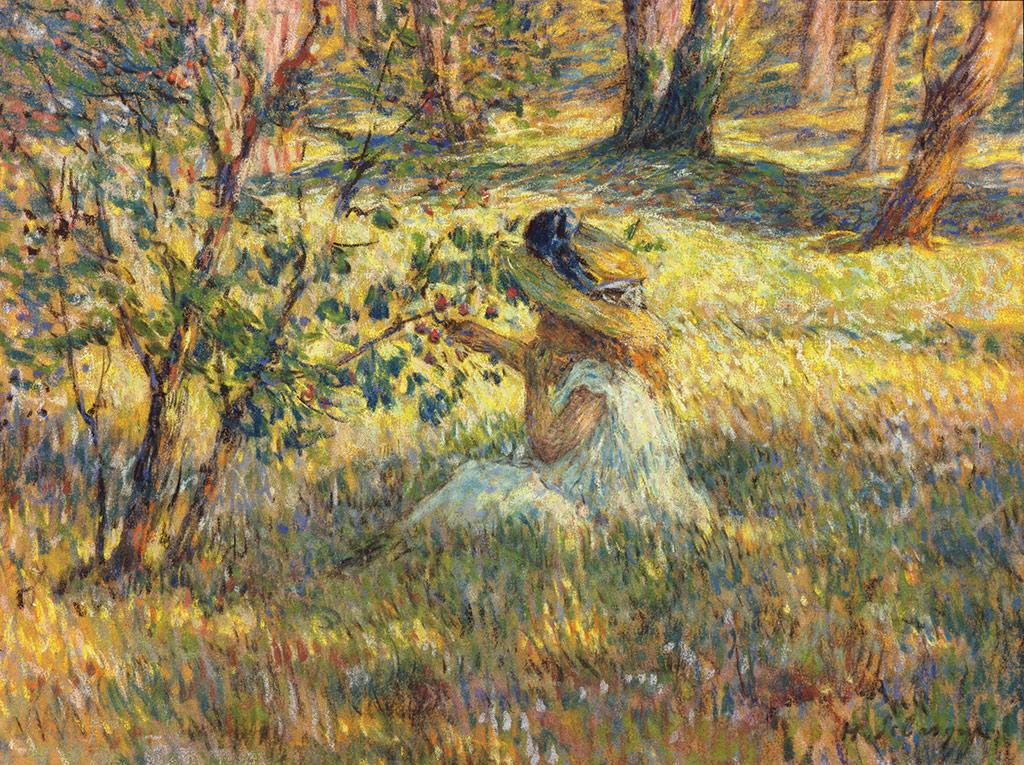 Fillette dans un paysage, circa 1900-1905