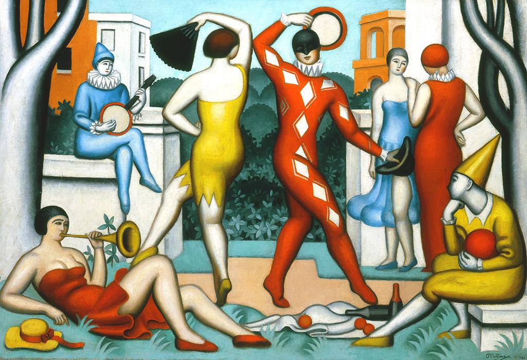 Fête galante, les arlequins, 1925