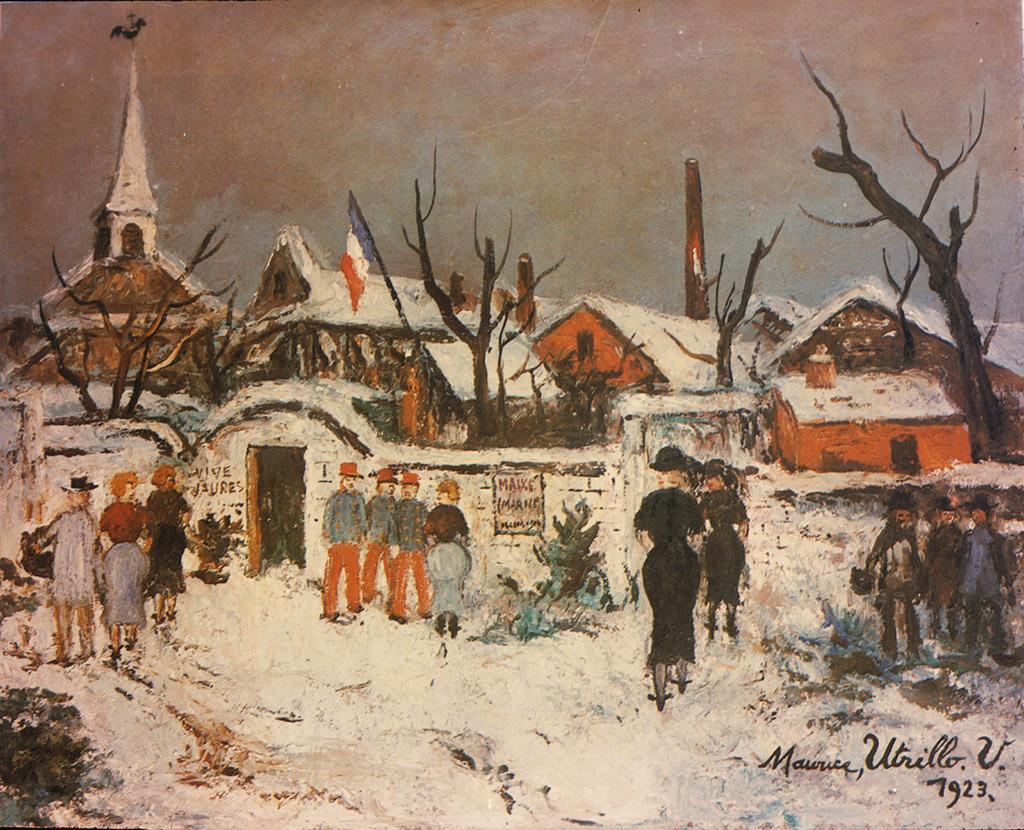 Paysage sous la neige à Maixe, 1923