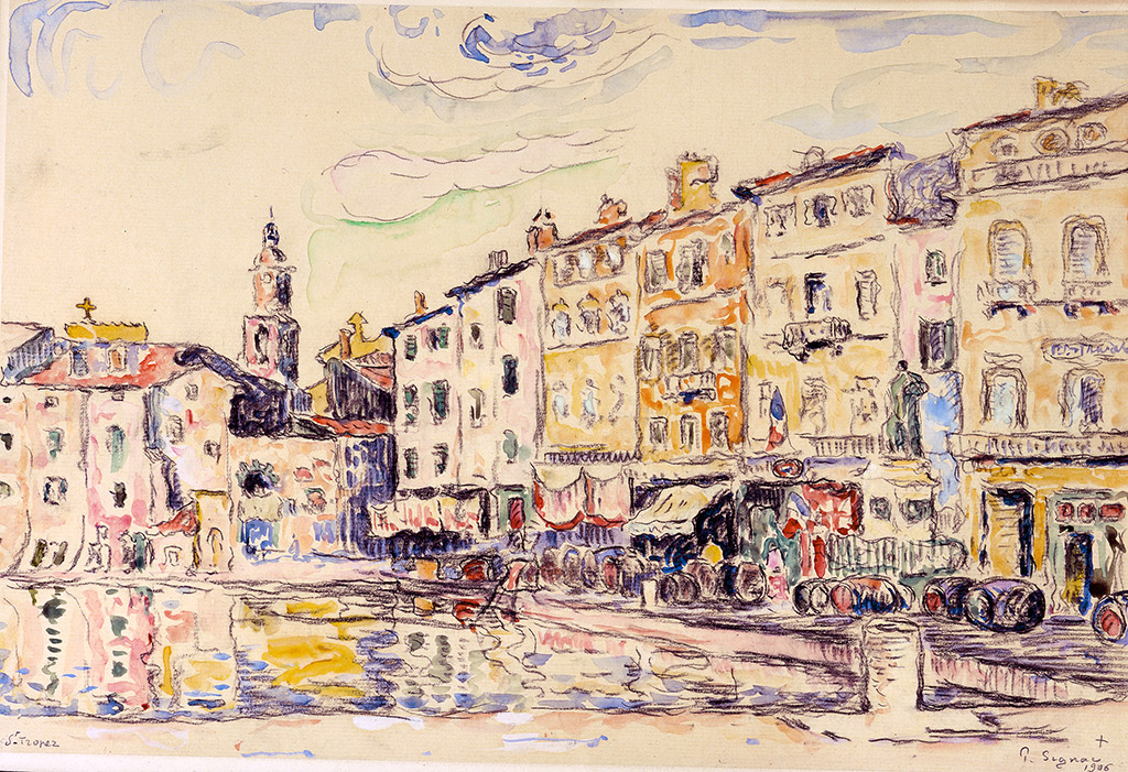 Le port de Saint-Tropez, 1906