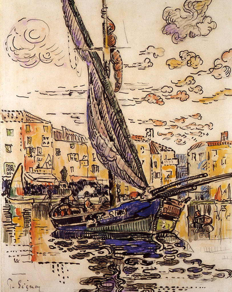 Le Port de Saint-Tropez, 1915