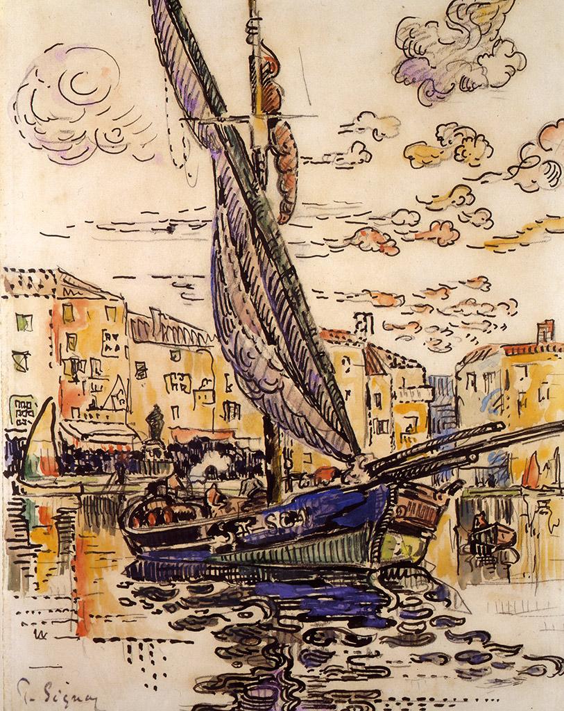 Le Port de Saint-Tropez, 1915
