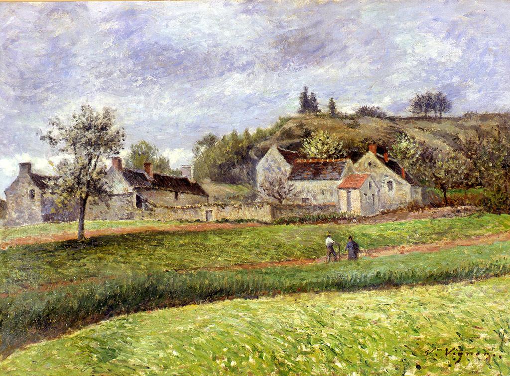 Le hameau au printemps, vers 1895-1900