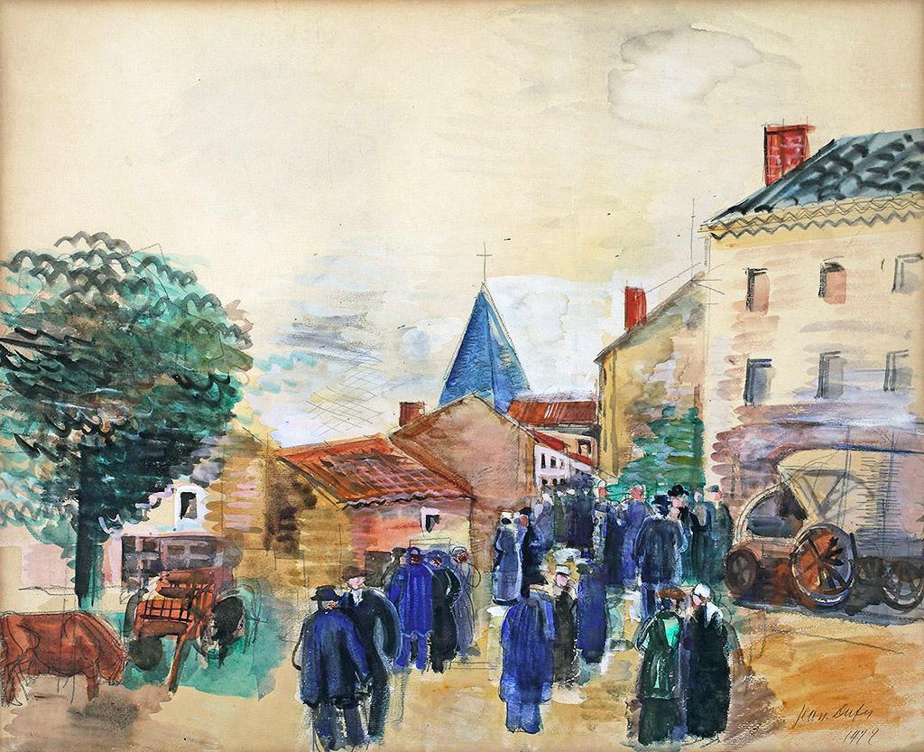 Le marché d'Ambazac (Haute-Vienne), 1922