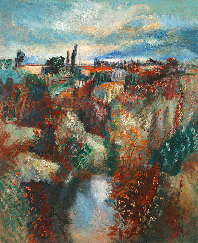 Paysage du Limousin, vers 1925