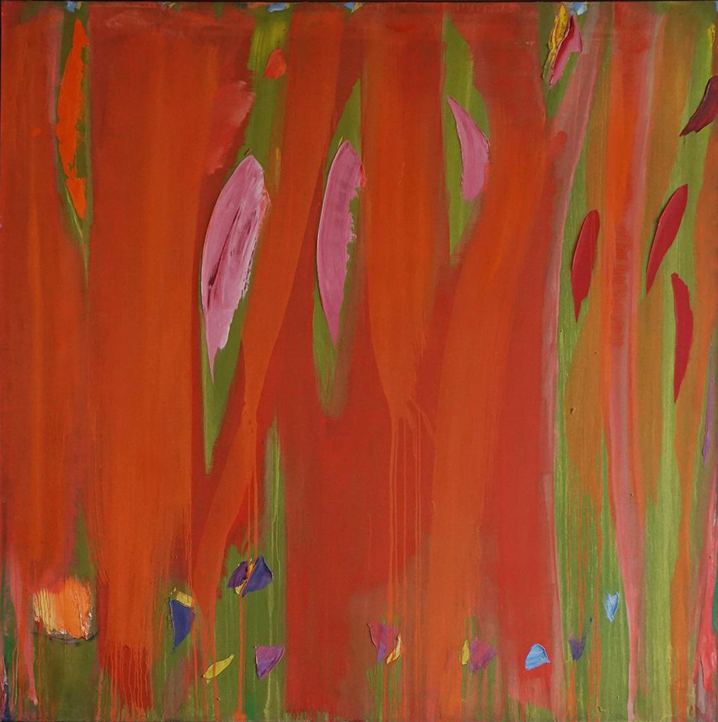 Rouge coulé, taches roses et rouges, 1988-89