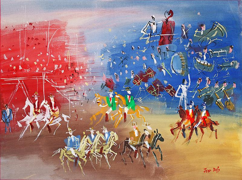 Parade équestre, vers 1950-55