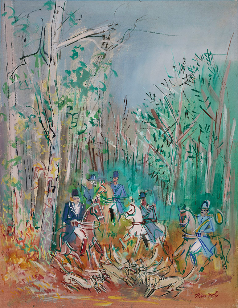 Chasse à courre, vers 1950