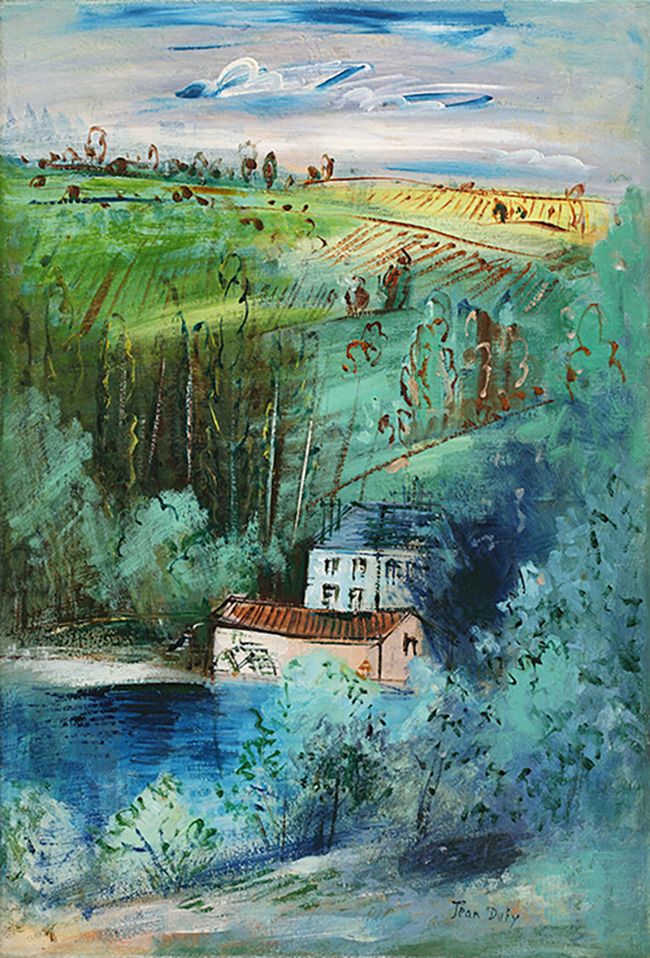 Moulin à aubes dans la vallée de la Gartempe, vers 1930-35
