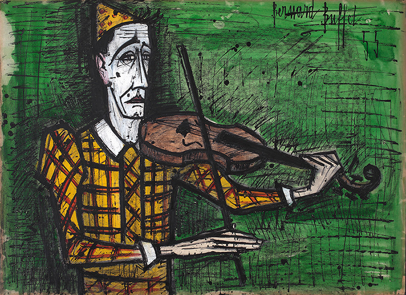 Clown au violon, 1955