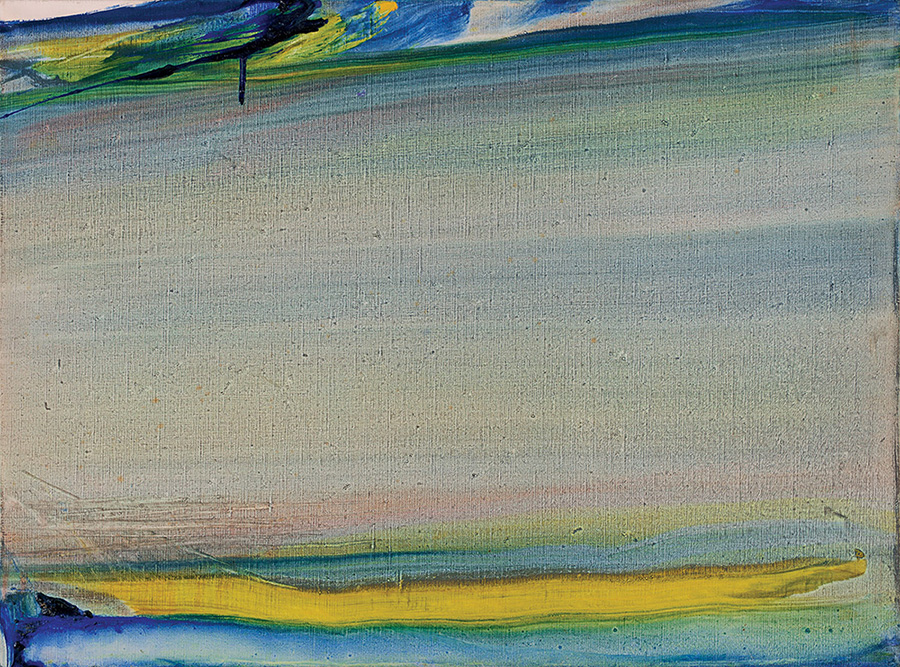 Touraine 86, Coulée horizontale vert jaune, 1986
