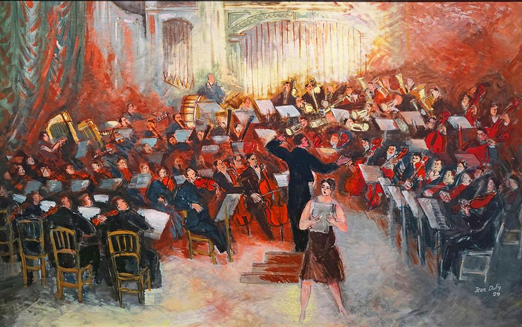 Salle Gaveau, le grand orchestre, 1929