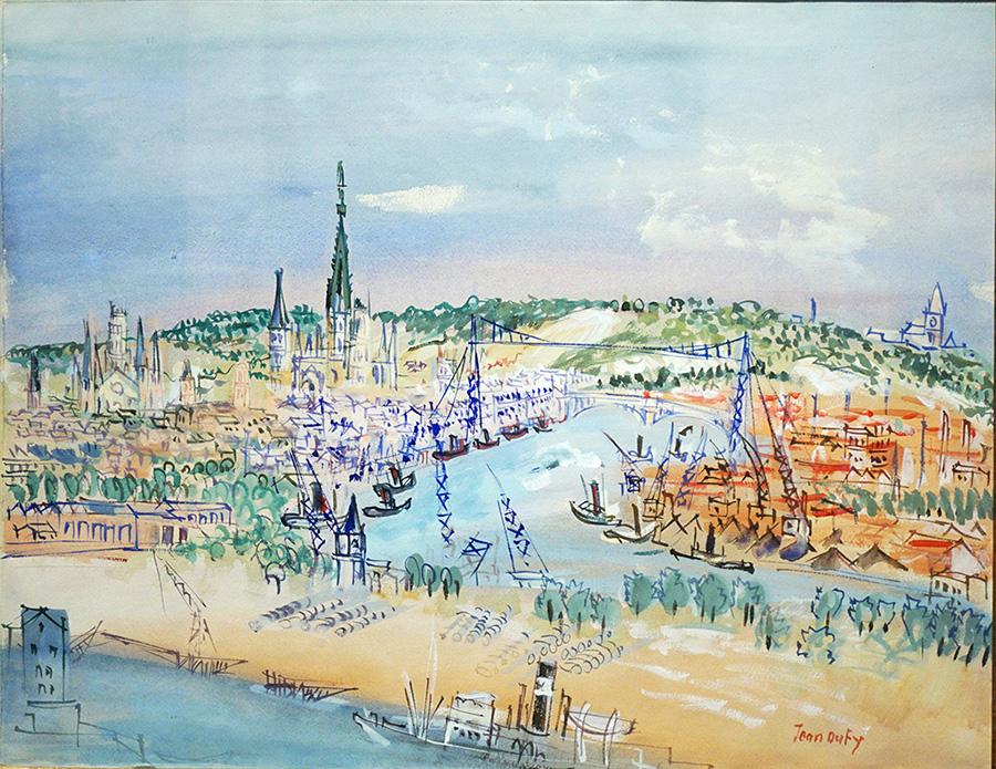 Port de Rouen, vers 1946