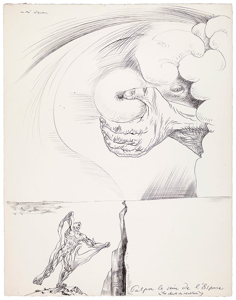 Palper le sein de l'Espace (Les chants de Maldoror), 1937