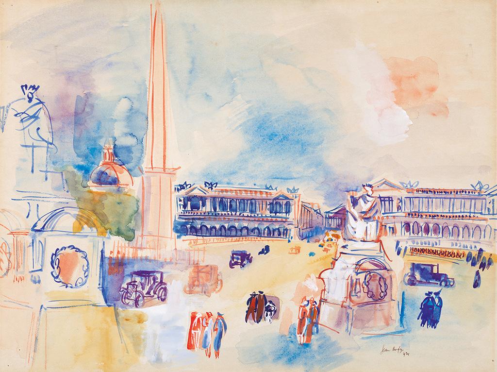 Place de la Concorde, 1924
